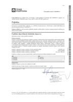 Certifikát pojištění odpovědnosti za škodu silničního dopravce s limitem pojistného plnění 5 mil. Kč